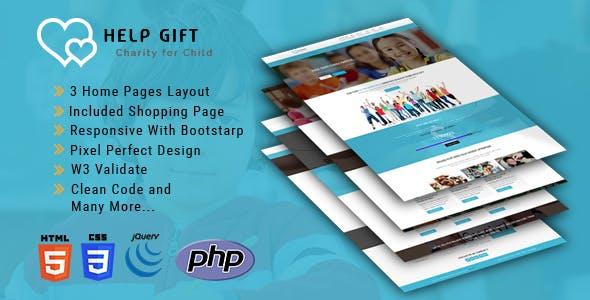 HelpGift - Non-profit, Charity, Fundraising HTML5 Template