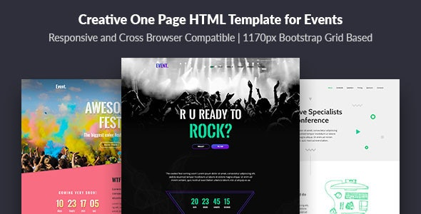 Event — Creative and Modern One Page HTML Template for Events - Events Entertainment