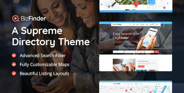 BizFinder - Business Directory Theme - Directory & Listings Corporate