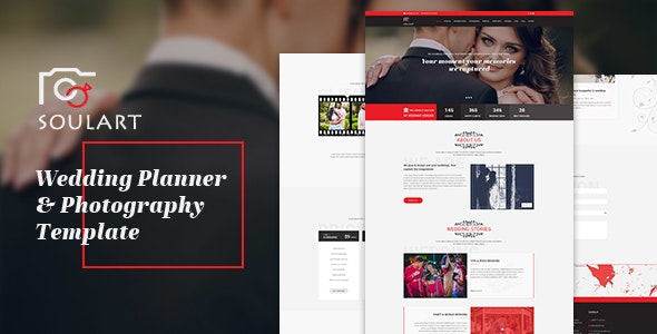 Soulart - Wedding Planner & Photography HTML Template - Wedding Site Templates