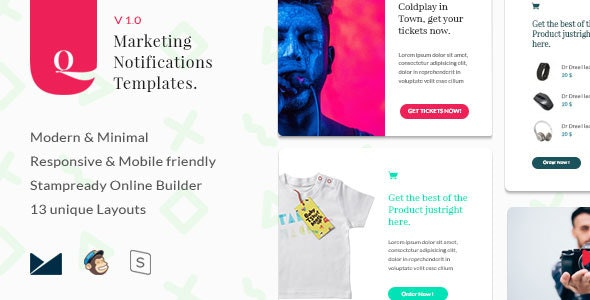 Q - Marketing Notifications Templates - Email Templates Marketing