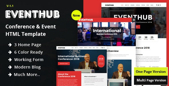 Event Hub - Conference & Event HTML Template - Events Entertainment