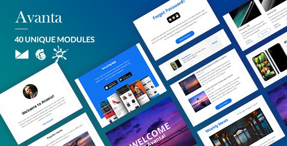 Avanta Email-Template + Online Builder - Newsletters Email Templates