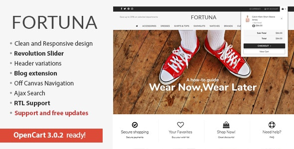 Fortuna - Elegant and responsive OpenCart theme - OpenCart eCommerce
