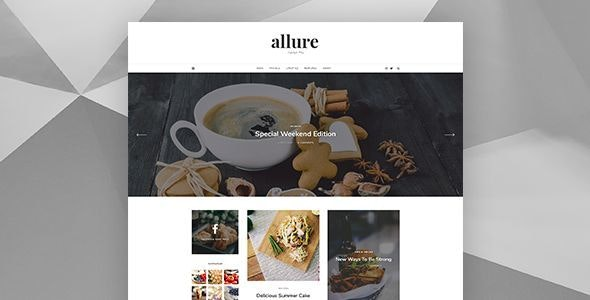 Allure - Personal Blog Template - Personal Photoshop