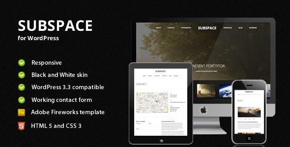 Subspace - Portfolio WordPress Theme - Photography Creative