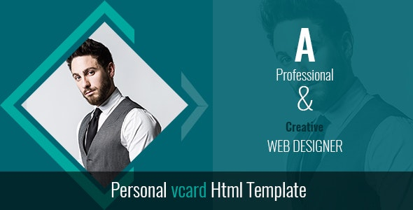 SJ DESIGNS  Personal vcard Html Template - Virtual Business Card Personal