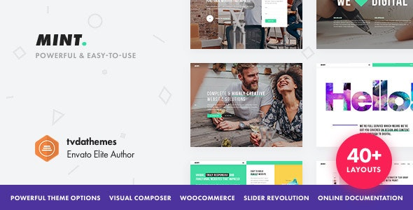 Mint - Creative Multi-Purpose WordPress Theme - Creative WordPress