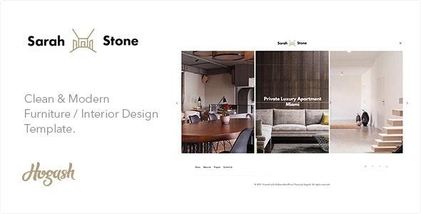 SarahStone furniture HTML template - Portfolio Creative