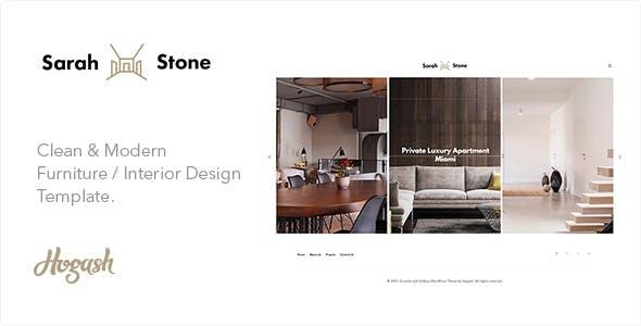 SarahStone furniture HTML template