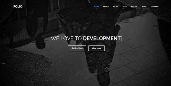 Folio - One Page MultiPurpose HTML5 Template - Corporate Site Templates