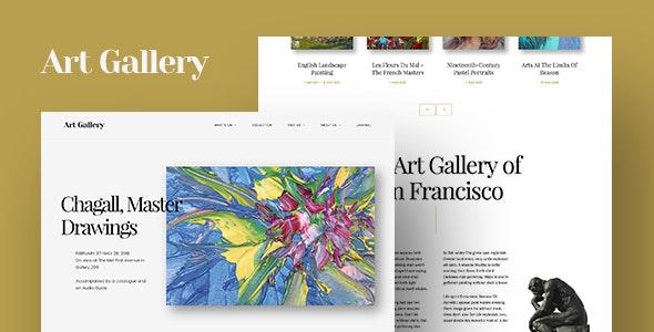 Arte | Art Gallery WordPress Theme - Art Creative