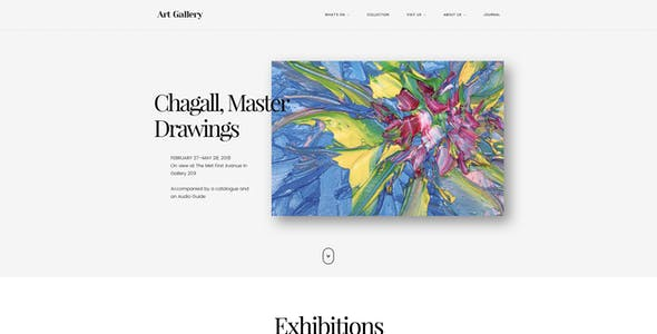 Arte | Art Gallery WordPress Theme