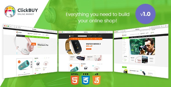 ClickBuy - Multi Store Responsive HTML Template - Retail Site Templates