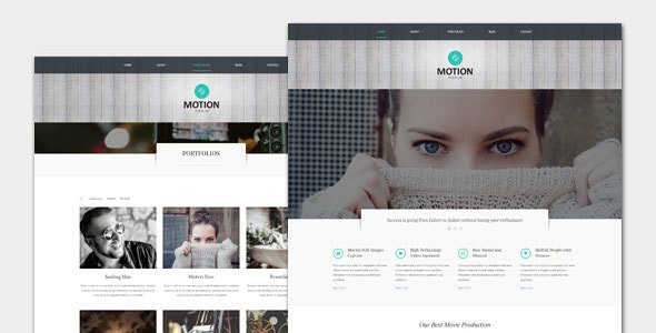 Motion - Film and Movie WordPress Theme - Film & TV Entertainment
