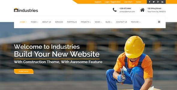 Industries - Industrial & Construction Business HTML Template