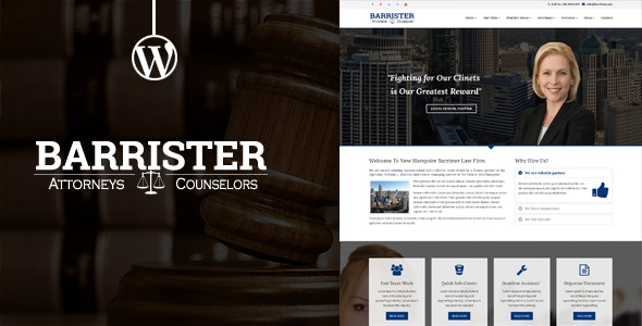 Barrister - Responsive Law Business WordPress Theme - Business Corporate