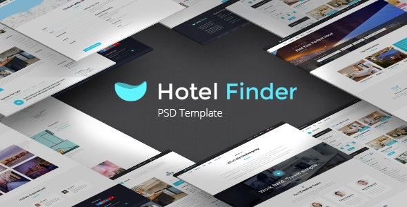 Hotel Finder - Online Booking HTML Website Template - Retail Site Templates