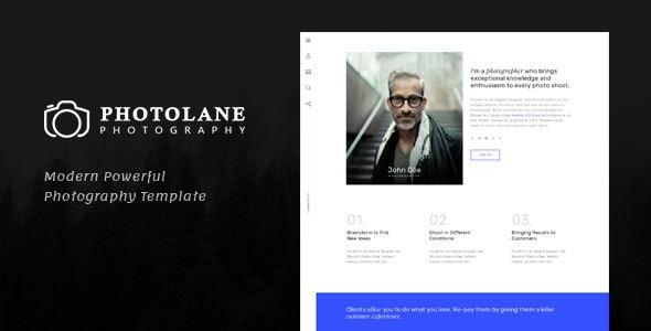 Photolane | Photography HTML Template - Photography Creative