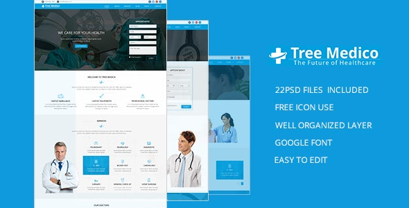 Medico Tree PSD Template - Health & Beauty Retail