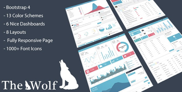 Thewolf - Responsive Bootstrap 4 Admin Template - Admin Templates Site Templates