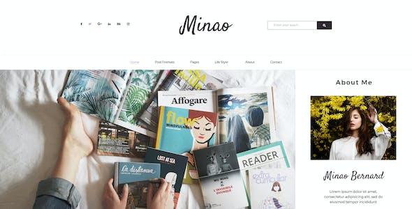 Minao - Blog PSD Template