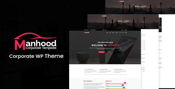Manhood - Corporate WordPress Theme - Business Corporate