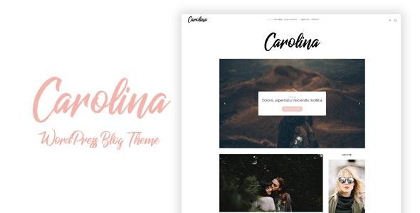Carolina - Simple WordPress Blog Theme - Personal Blog / Magazine