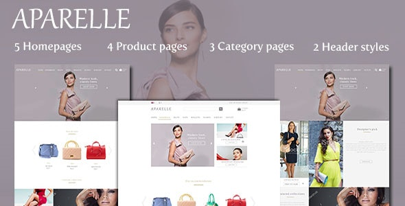 Aparelle Fashion eCommerce PSD Template - Fashion Retail