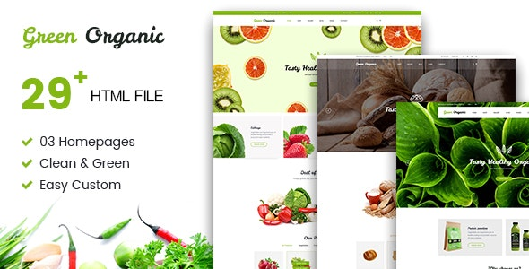 Green Organic - Organic Store & Bakery HTML5 Template - Food Retail