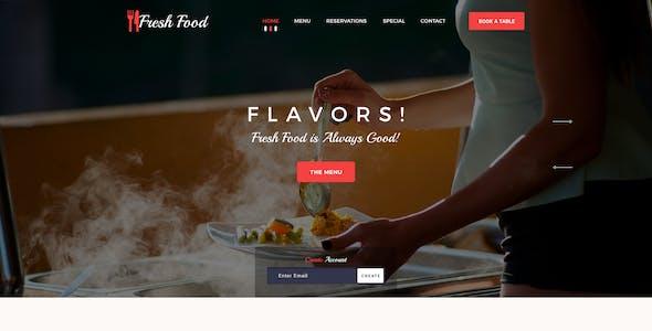 Fresh Food --- Restaurant PSD Template