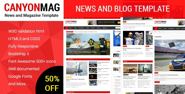 Canyon Mag - News and Blog Template - Miscellaneous Site Templates
