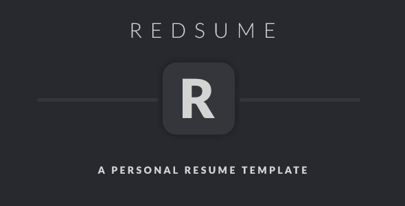 Redsume - A Personal Clean Resume Template - Resume / CV Specialty Pages