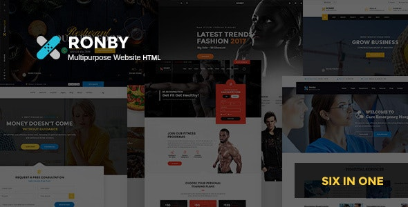 Ronby - 6 Niche Multi-Purpose HTML5 Bootstrap 3 Template by Theme-Squared