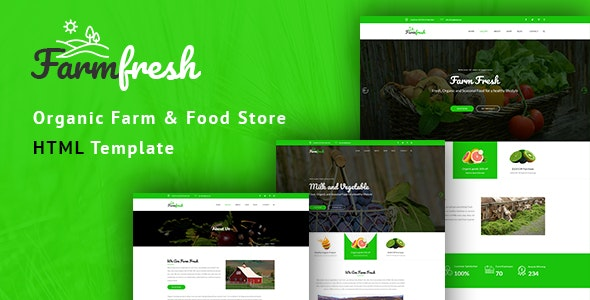 Farm Fresh - Organic Food & Eco Farm HTML Template - Food Retail