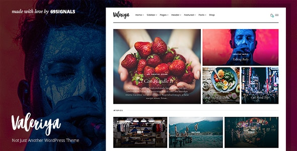 Valeriya - Classy Theme for WordPress - Personal Blog / Magazine