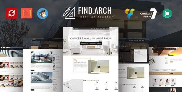 Find ARC - Interior Design, Architecture - WordPress Theme by ThemexLab