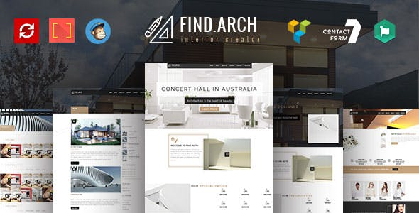 Find ARC - Interior Design, Architecture - WordPress Theme