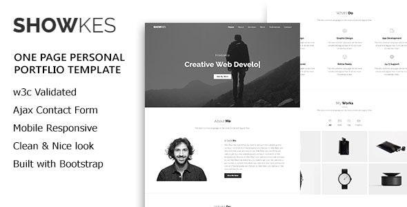 SHOWKES - Personal Portfolio HTML5 Template - Personal Site Templates