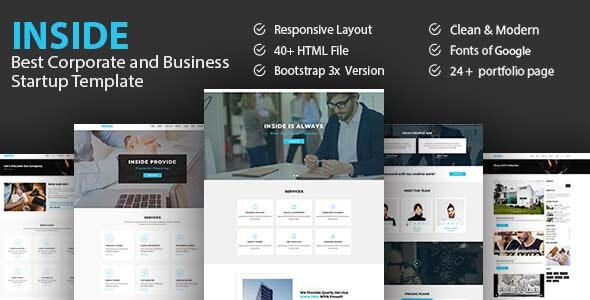 Inside - Best Corporate And Business Startup Template - Business Corporate