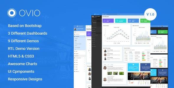 Ovio -  Bootstrap Based Responsive Dashboard - Admin Template - Admin Templates Site Templates
