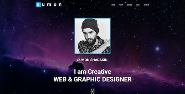 SUMON - Personal Portfolio Website Design