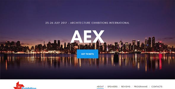 Archi - Interior Design exhibition website template