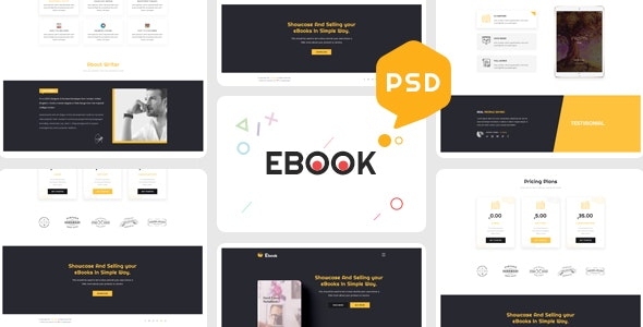 Ebooks - One Page Psd Template - Creative Photoshop