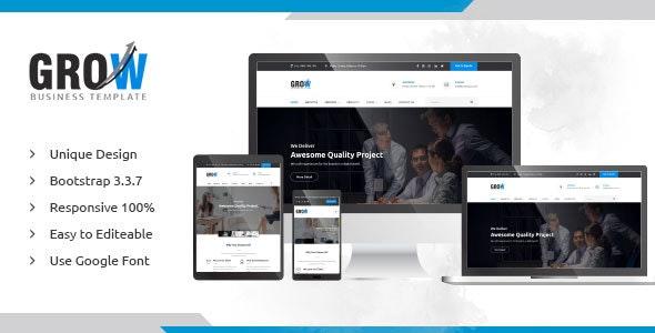 Grow - Responsive Multipurpose Business HTML Template - Corporate Site Templates