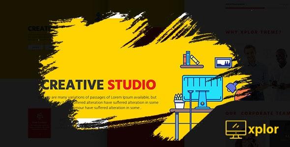 Xplor - Creative Agency PSD Template - Creative Photoshop