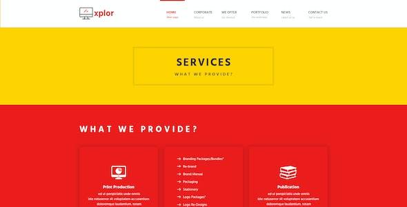 Xplor - Creative Agency PSD Template