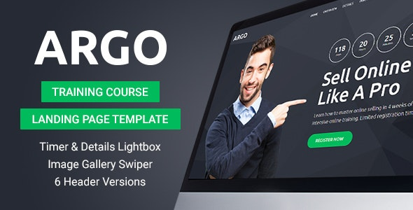 Argo - Training Course Landing Page Template - Miscellaneous Landing Pages