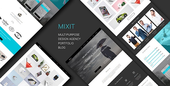 Mixit_Responsive Multipurpose One Page Muse Template - Creative Muse Templates