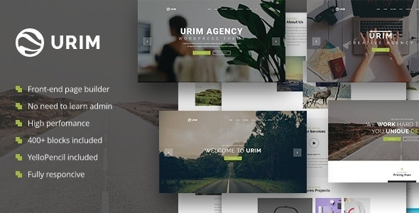 Urim - Creative Agency WordPress Theme - Creative WordPress